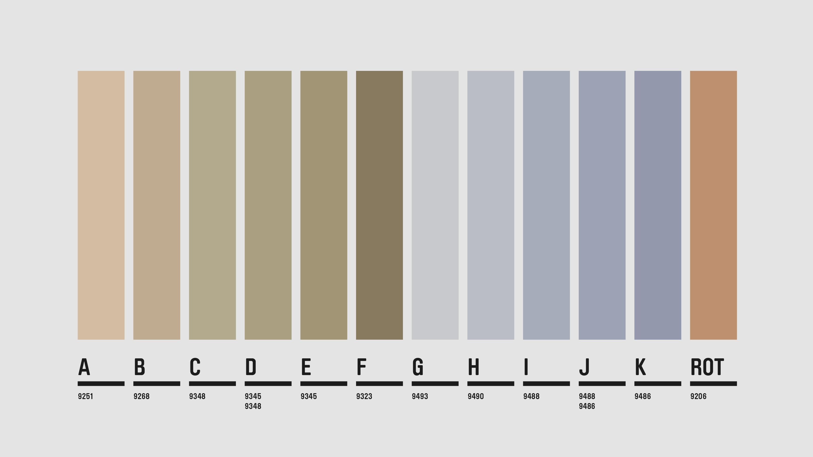 Projekt Schweighof — Formale und farbliche Reduktion im Überformat —Farbigkeit — l'équipe visuelle – Grafik und Werbung