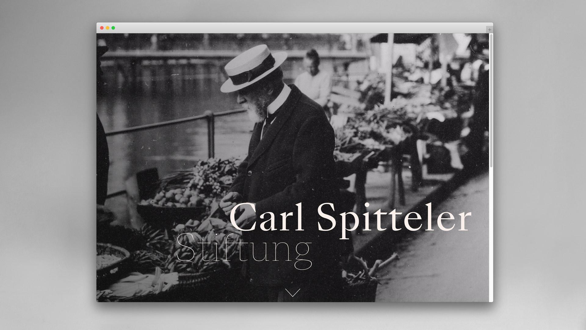 l'équipe visuelle — Grafik und Werbung — Corporate- und Webdesign für die Carl Spitteler Stiftung Luzern