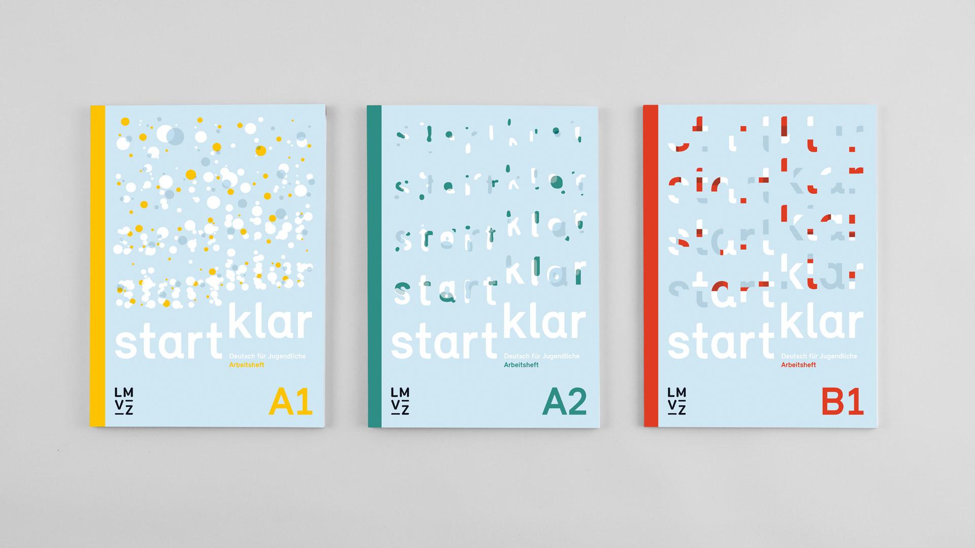 l'équipe [visuelle] – Grafik Werbung Agentur Luzern Emmenbruecke – Lehrmittelverlag-Zuerich – startklar Lehrmittel, Deutsch als Zweitsprache A1 – B1