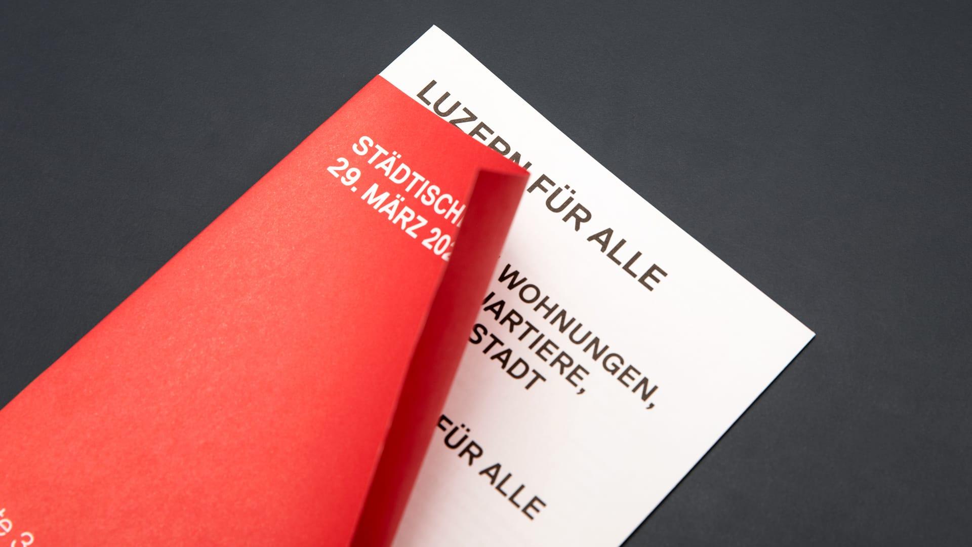 SP Stadt Luzern – Luzern für alle statt für wenige – Wahlkampagne für die städtischen Wahlen 2020 – l'équipe visuelle – Grafik und Werbung