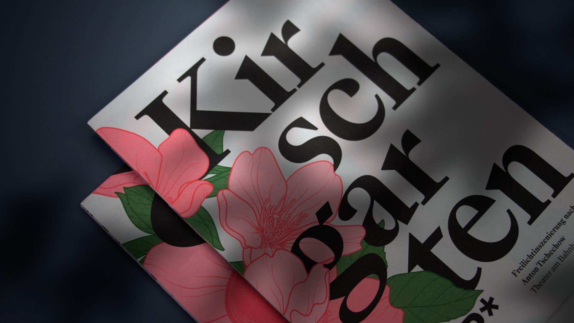 TaB* – Theater am Bahnhof — Kirschgarten — Corporate Design, Plakate, Flyer, Faltplakat — l'équipe visuelle – Grafik und Werbung