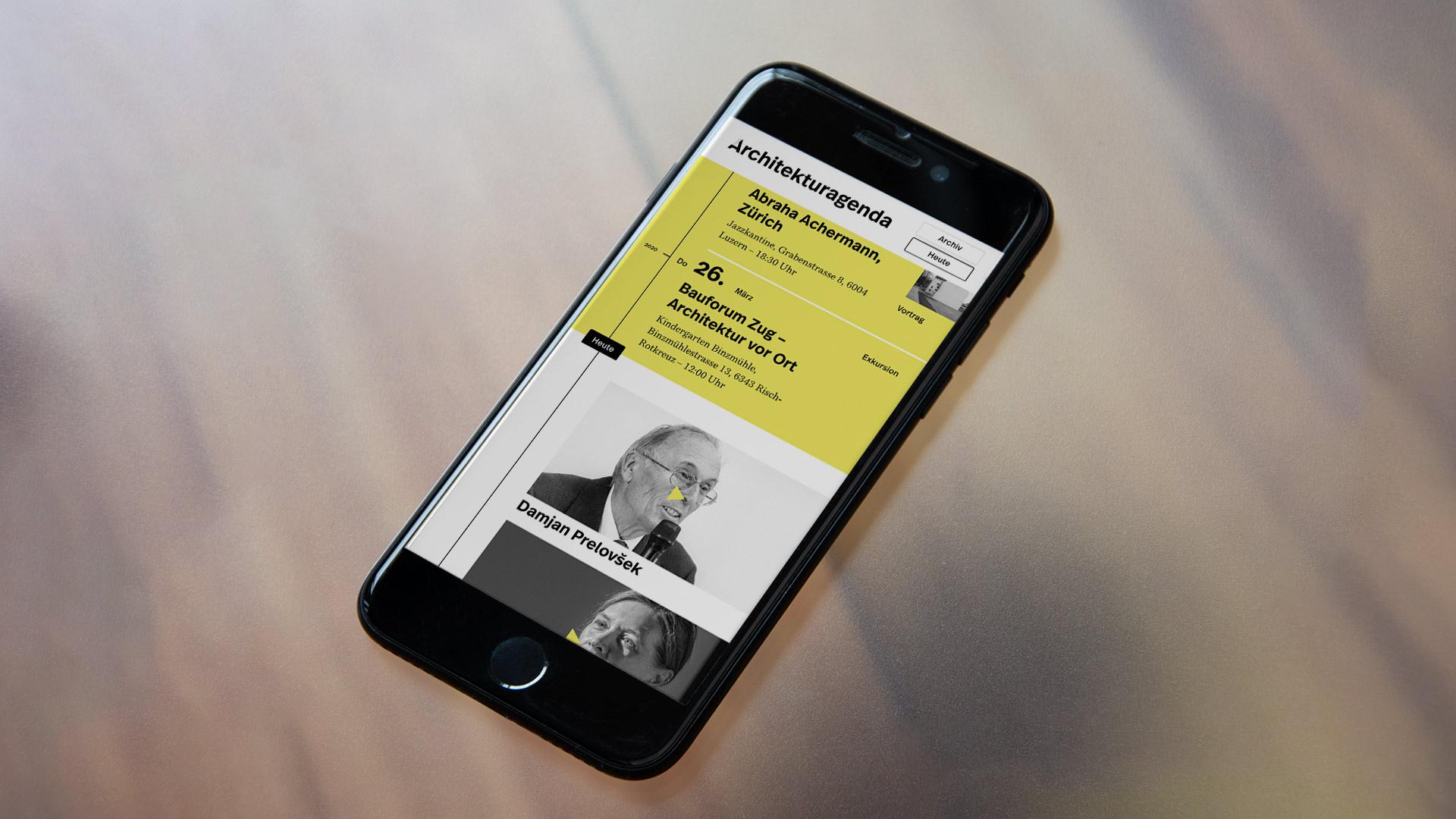 Architekturagenda und Architekturstellen – Web und Corporate Design der neuen Portale der Schweizer Architekturszene – l'équipe visuelle – Grafikatelier