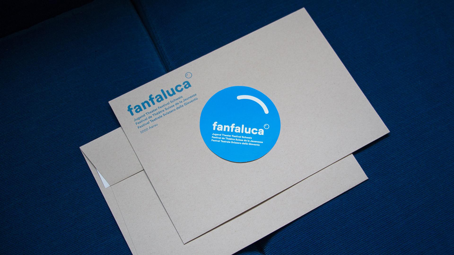 Fanfaluca – Jugend Theater Festival Schweiz — Kuverts, Corporate Design, Plakate, Flyer, Animationen — l'équipe visuelle – Grafik und Werbung