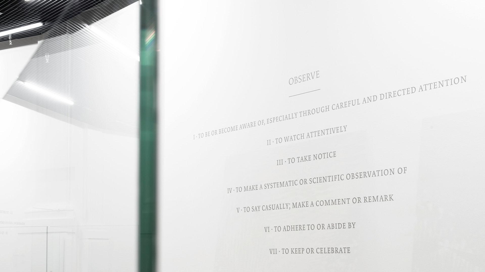 l'équipe [visuelle] Kunsthalle Luzern Daniela Schönbächler Beschriftung