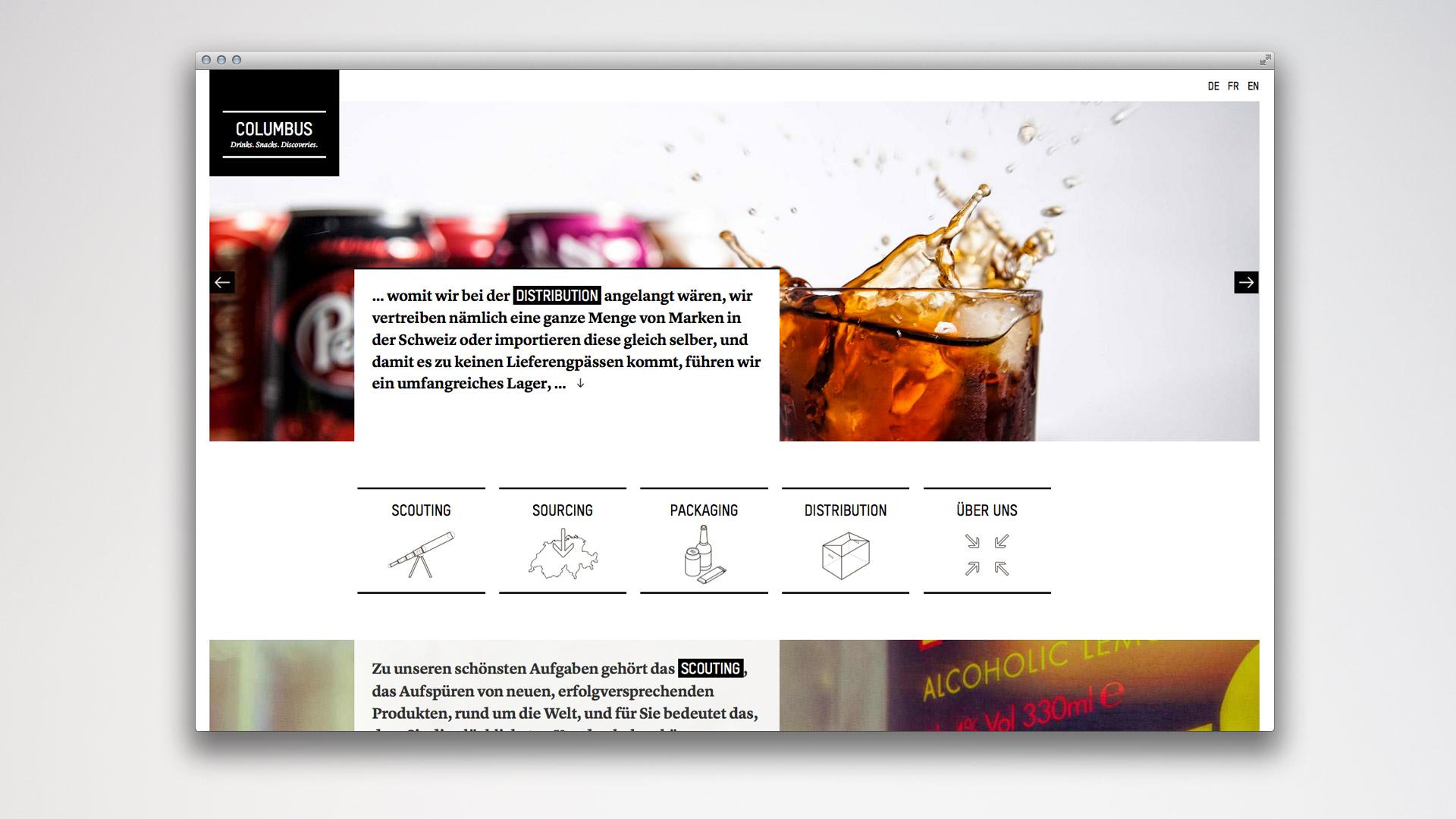 l'équipe [visuelle] Columbus Vertriebs AG Corporate Design Web Design