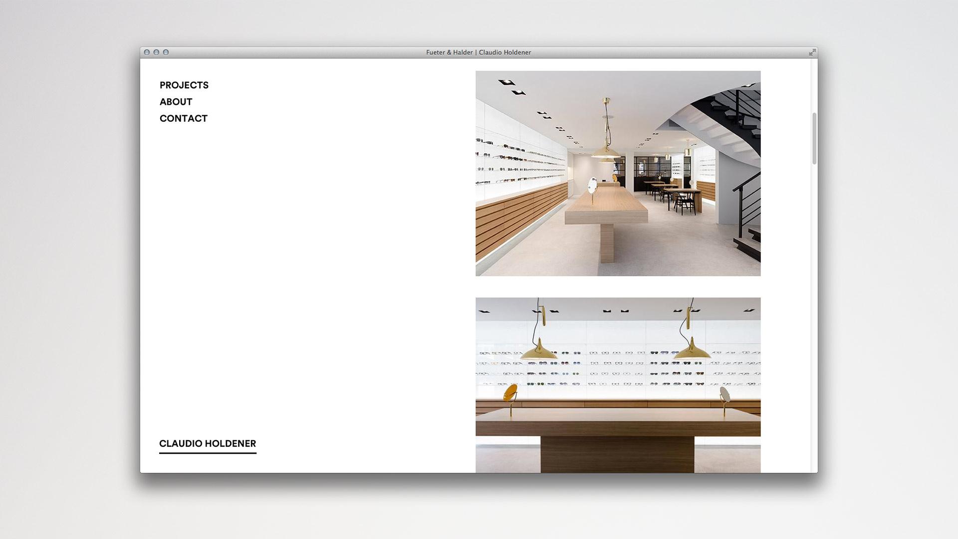 l'équipe [visuelle] Claudio Holdener Architektur Web Design