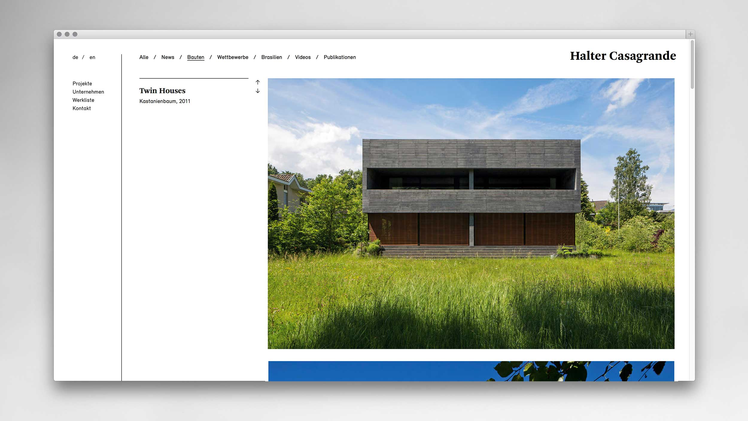 l'équipe [visuelle] Halter Casagrande Architekten Partner AG Corporate Design Web Design