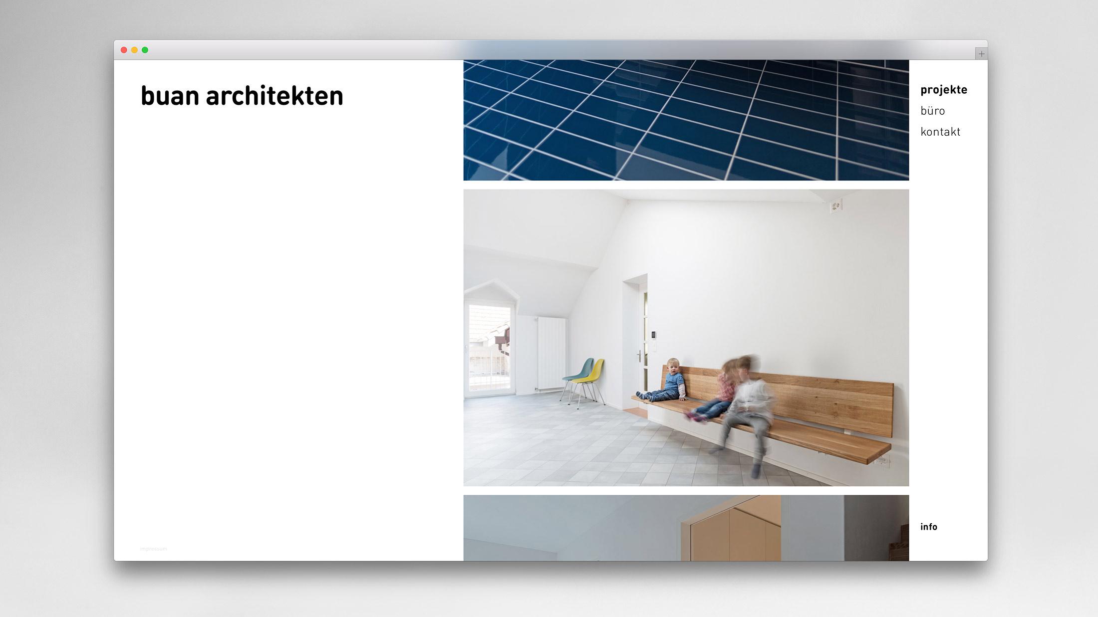 l'équipe [visuelle] – Webseite für buan architekten GmbH – Konzeption, Gestaltung und Programmierung der Full Responsive CMS-Webseite
