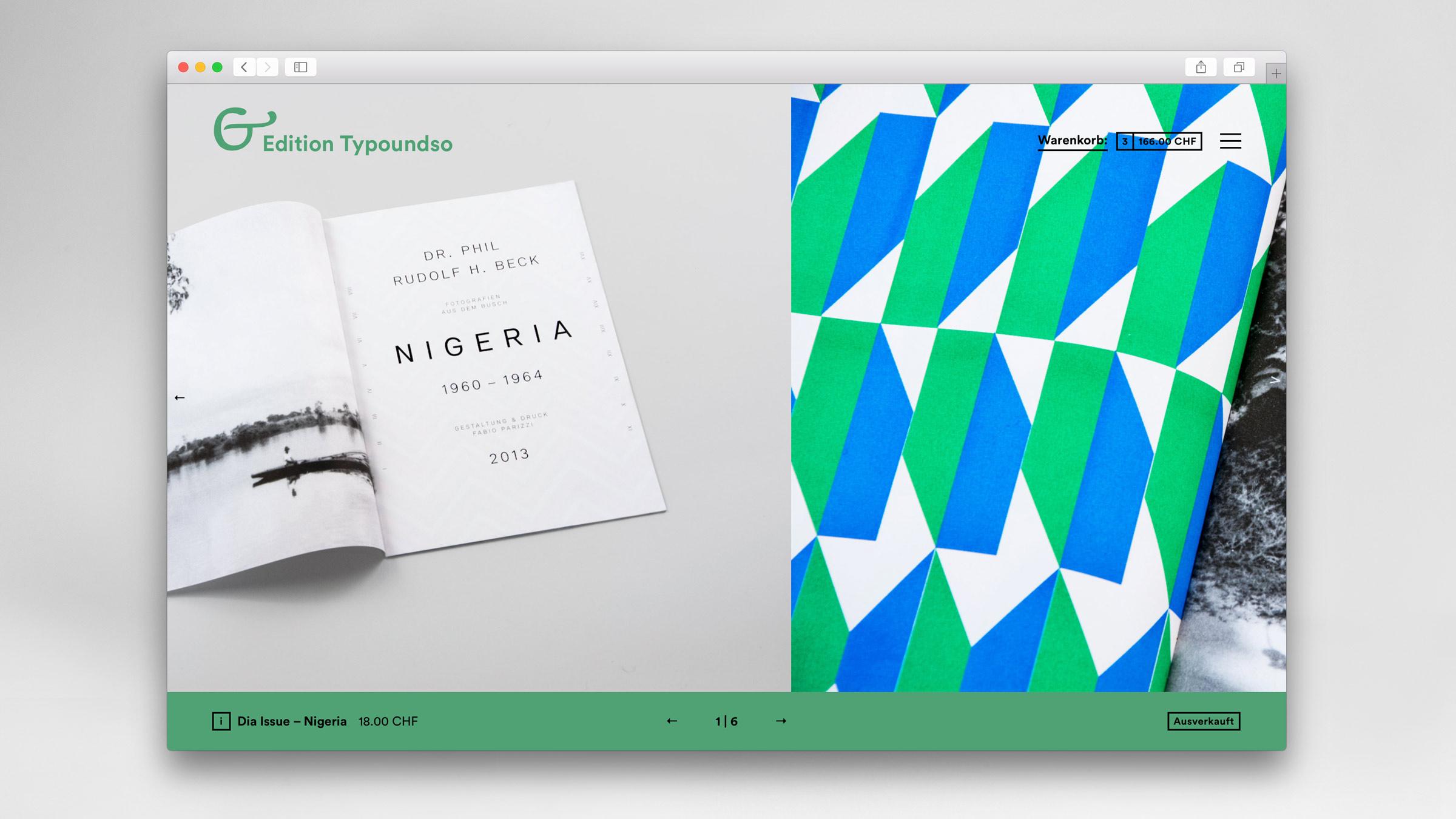 l'équipe [visuelle] – Webshop für den Hausinternen Verlag Edition Typoundso – Konzeption, Gestaltung und Programmierung
