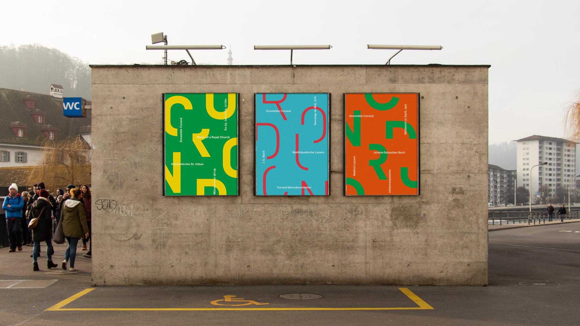 Ensemble Corund — Plakate Saison 18/19 — l'equipe visuelle — Grafik und Werbung