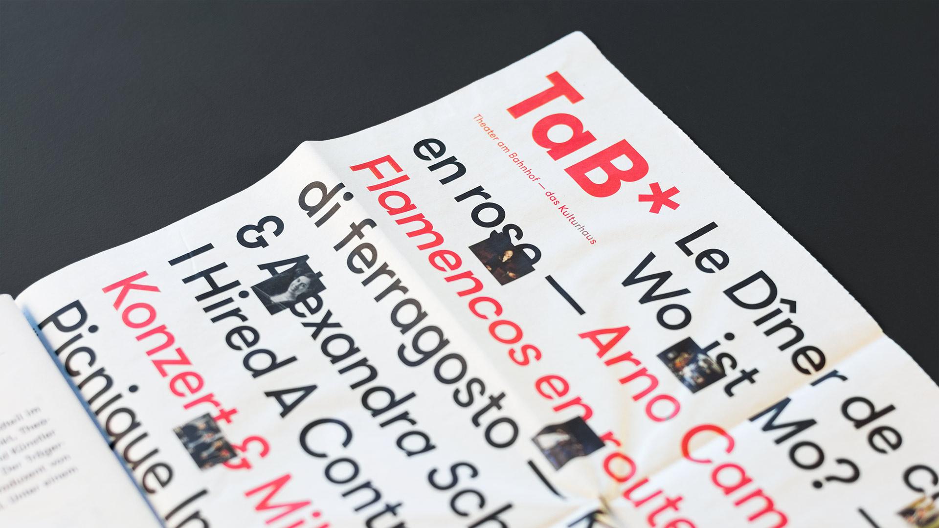 l'équipe [visuelle] – TaB* Theater am Bahnhof – Programmzeitung, Corporate Design, Plakate, Flyer, Kultur