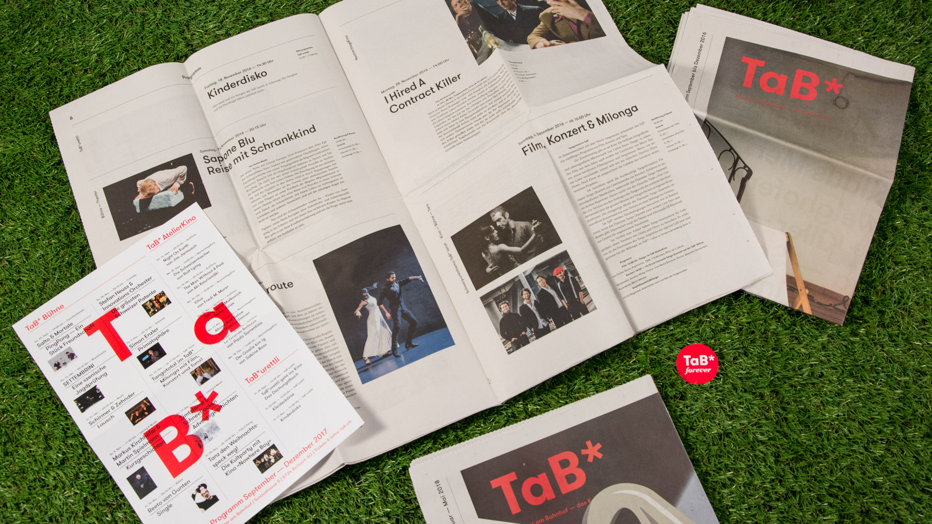 l'équipe [visuelle] – TaB* Theater am Bahnhof – Programmzeitung, Corporate Design, Plakate, Flyer, Kultur