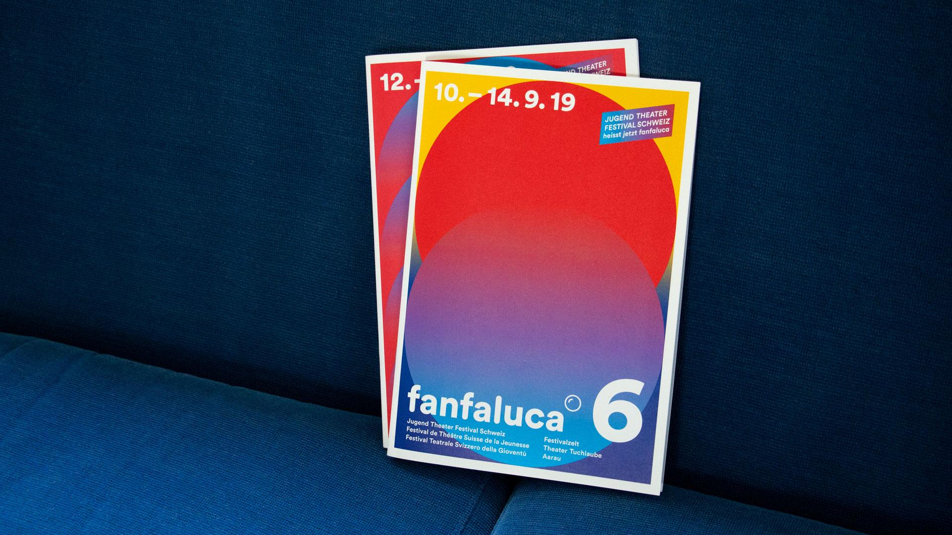 Fanfaluca – Jugend Theater Festival Schweiz — Corporate Design, Plakate, Flyer, Animationen — l'équipe visuelle – Grafik und Werbung