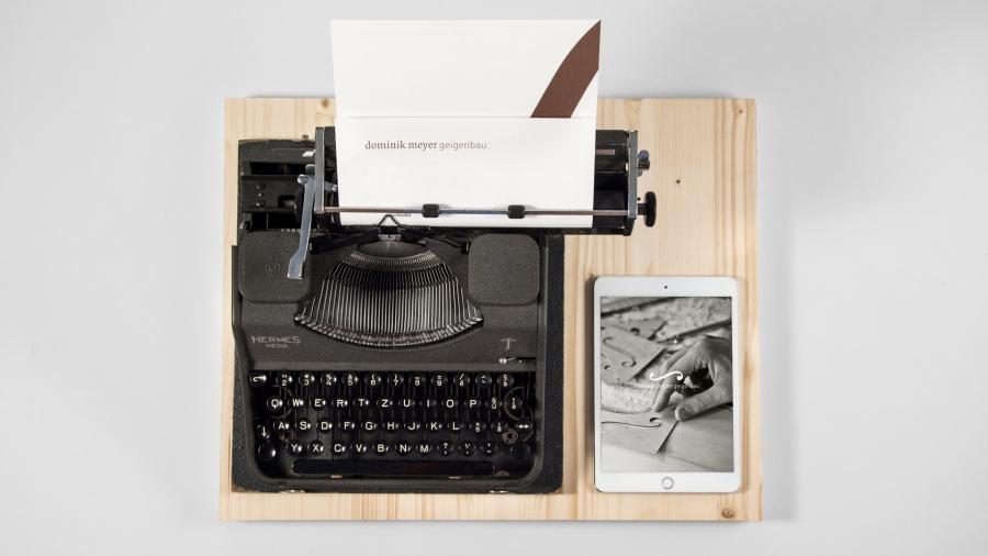 l'équipe [visuelle] – Grafik Agentur Emmenbruecke Luzern – Corporate Design und Gestaltung und Programmierung der Webseite für den Geigenbauer Dominik Meyer